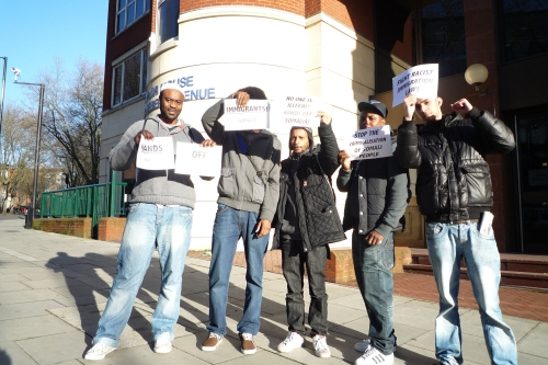 Hands off Somalia and supporters outside Taylor House IAC today