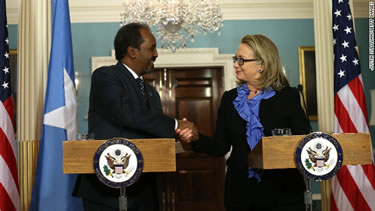 Hassan Mohamud, a little too eager to meet Somalia's imperialist oppressor?