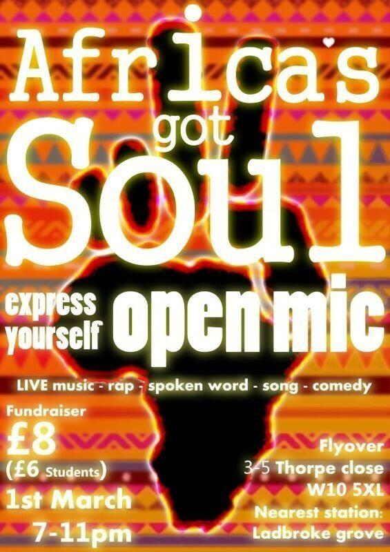 Africa's Got Soul - open mic this Friday in London