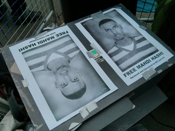Hands off Somalia displayed Mahdi Hashi posters and told people about his struggle - I AM MAHDI HASHI!