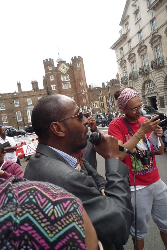 Other groups and speakers used the Hands off Somalia sound system